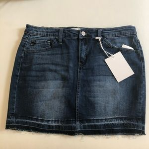 KanCan distressed jeans skirt
